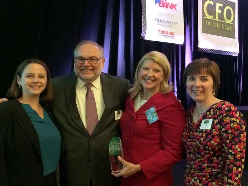 CEO of the year award winners accepting award