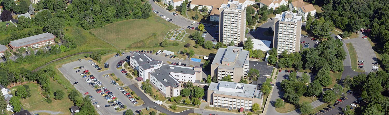 an aerial view of The Wesley Community