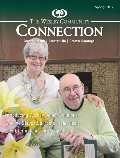 The Wesley Community Connections magazine cover - Spring 2017