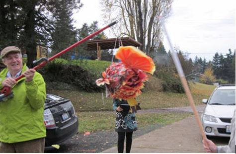 Reader Pamela Hastings hosted a Mexican-themed Thanksgiving one year complete with a pinata.