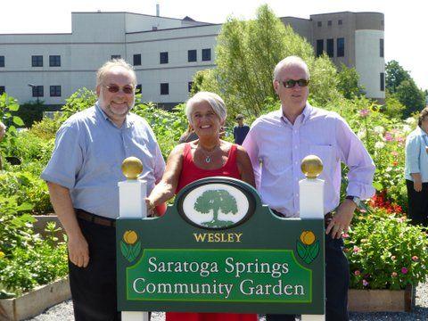 Wesley Community unveils Saratoga Springs Community Garden.