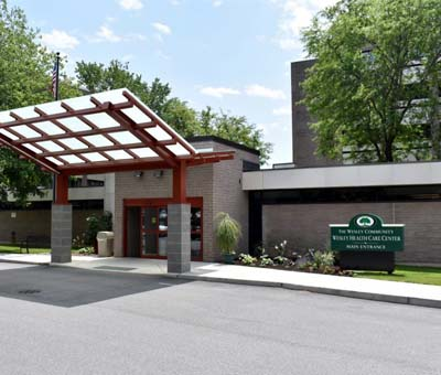 Wesley Health Care Center's front entrance.