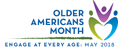Older Americans Month logo.