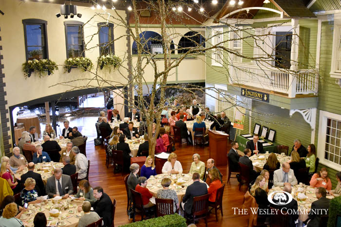 Wesley Society Luncheon at Longfellow's Restaurant.
