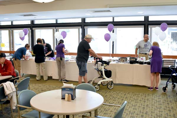 Longest Day Alzheimer's fundraiser in Embury Cafe.