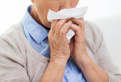 Senior with flu