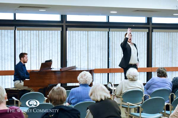 Opera Saratoga performing at The Wesley Community.