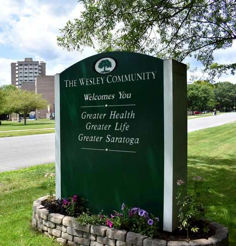 The Wesley Community Sign