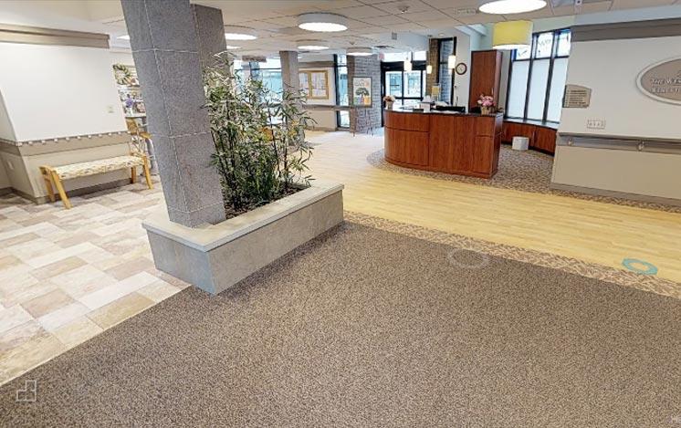 Nursing home lobby