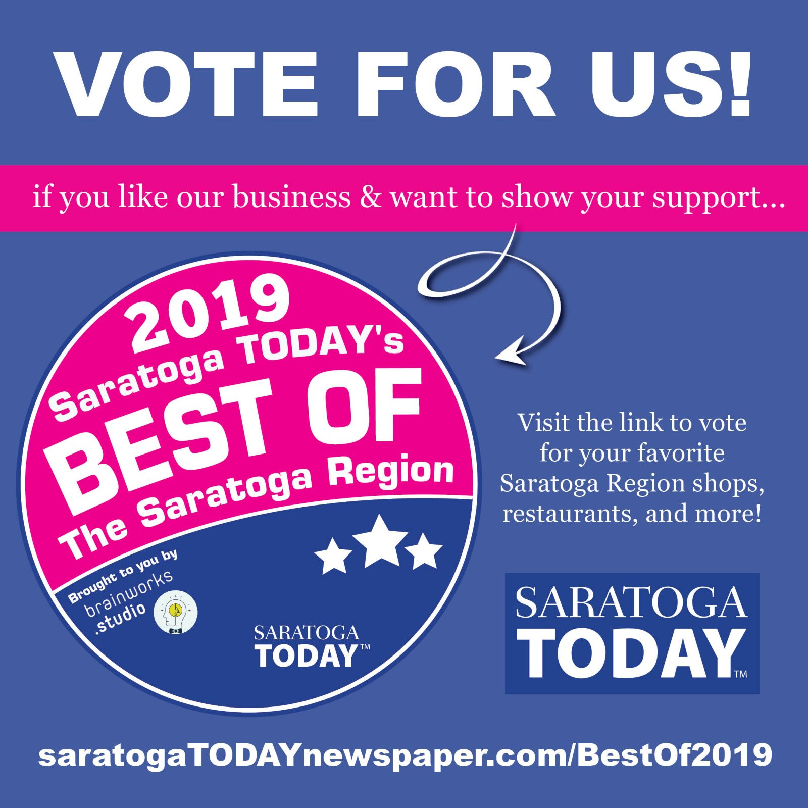 Saratoga Today Newspaper Best of 2019 Poll graphic.
