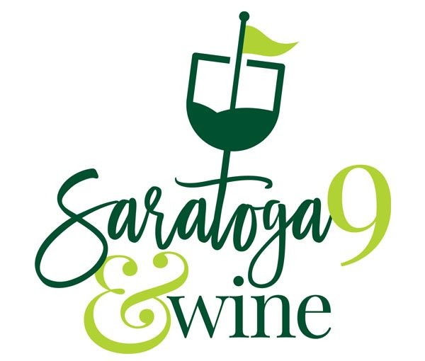 Saratoga 9 and Wine logo.