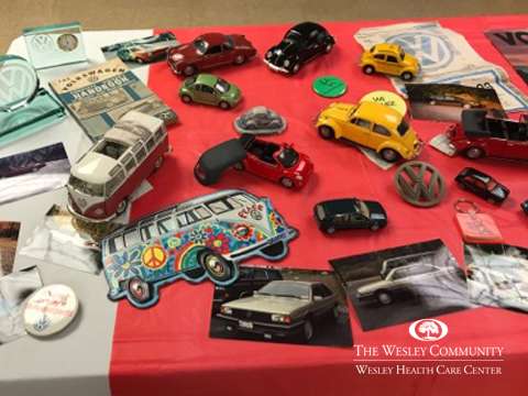 Model cars and automobile memorabilia.