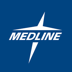 Medline logo for sponsorship of Saratoga Nine and Wine.