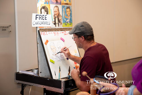 Free Caricature booth