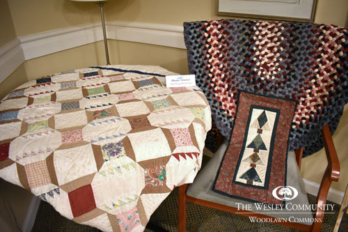 small rug draped over a chair