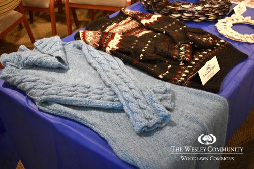 sweaters on display