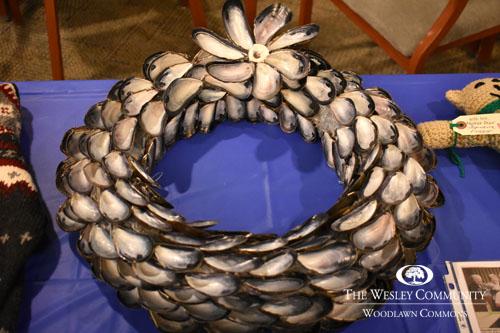 Shell art wreath