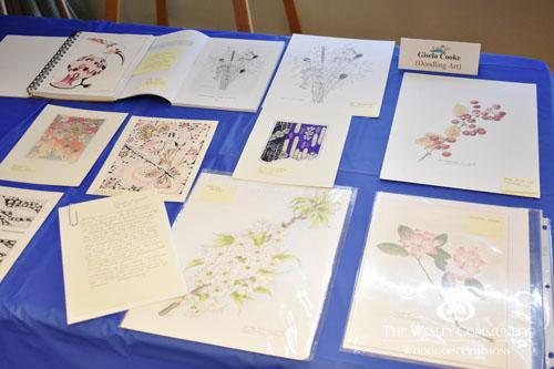 paper drawings on display