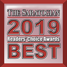 Saratogian 2019 Readers Choice Award Logo. It is a an award presented by The Saratogian newspaper.