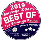 A logo that reads 2019 Best of The Saratoga Region. An award presented by the Saratoga Today Newspaper.