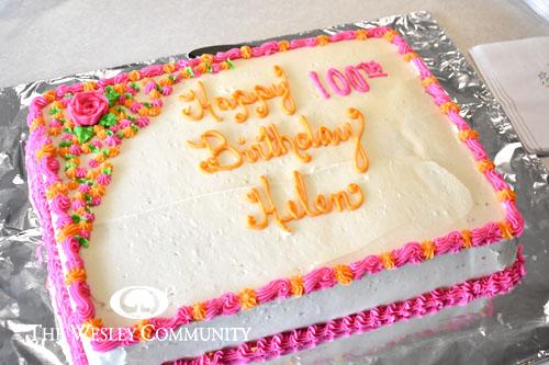 Helen's birthday cake - 100 years