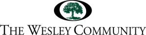 The Wesley Community logo. It features and oval with an oak tree within it.