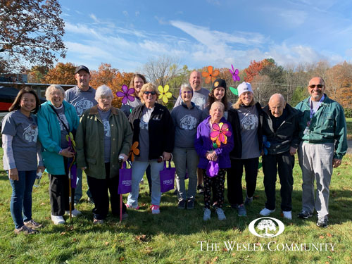The Wesley Community team that helped fundraise for the Walk to End Alzheimers