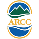 Adirondack Region Chamber of Commerce logo. It has the letters ARCC with interpretations of mountains and water incorporated into it.