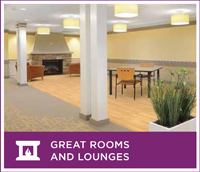 An example of the modern and comfortable sitting and social areas that will be available to residents after the renovation of the Springs Building.
