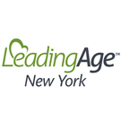 The logo for the Leading Age New York. An organization that advocates for seniors.