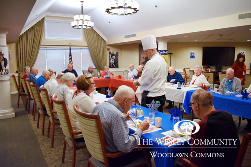 Chef serving veterans