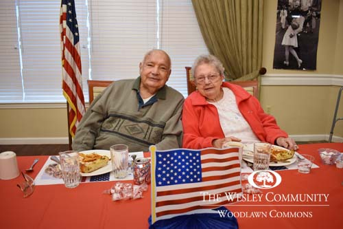 Woodlawn Common residents at Veteran's lunch