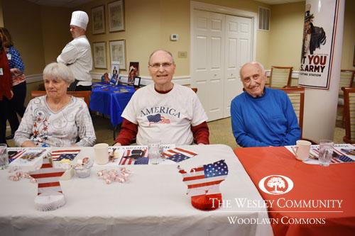 The Wesley Community honoring veterans