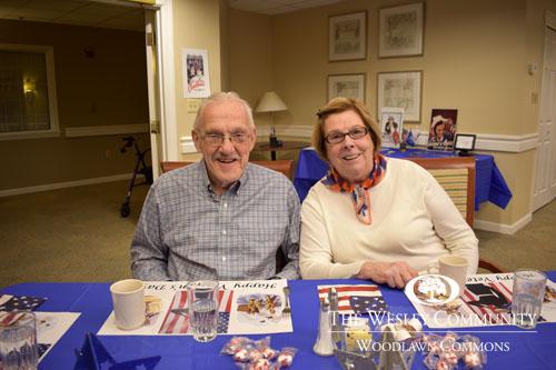 Enjoying the veterans luncheon