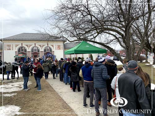 lines for popular chowder in Saratoga Springs