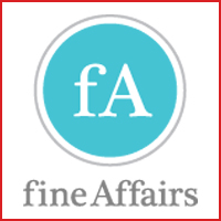 The logo for Fine Affairs event planning.