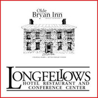 The logos for Longfellow's Hotel and Olde Bryan Inn Restaurant