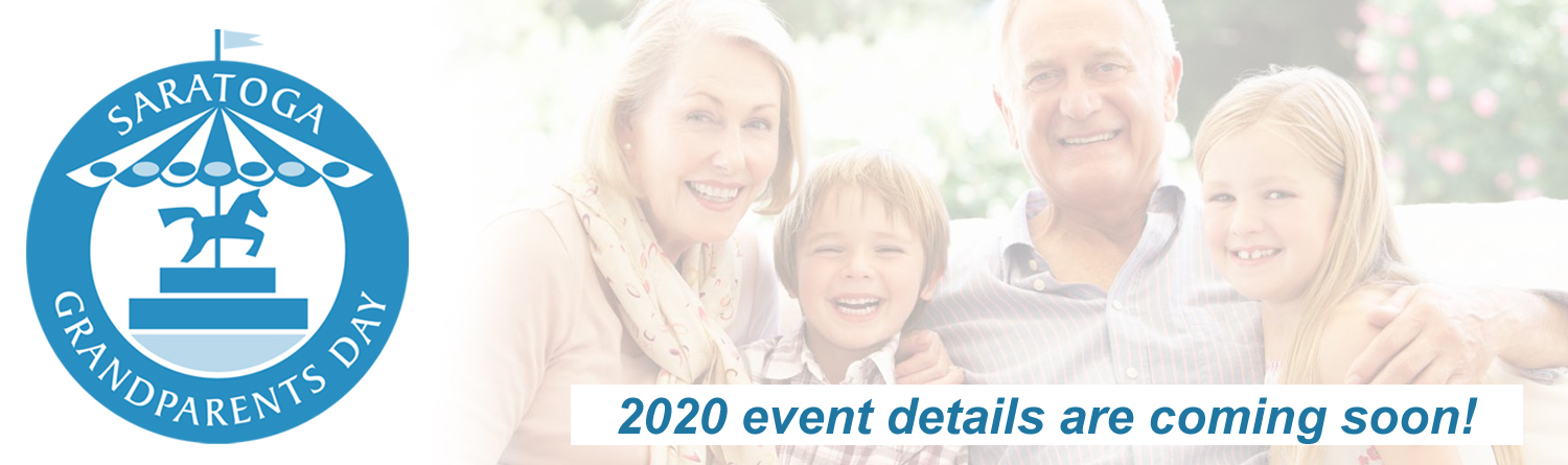 Grandparents and grandchildren sitting and smiling for the camera. It reads that 2020 event details are coming soon.