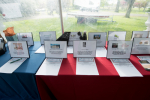 silent auction table display