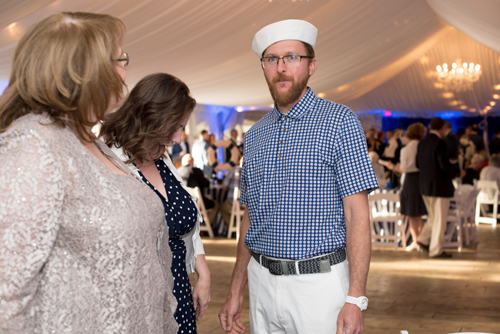 man with sailor hat