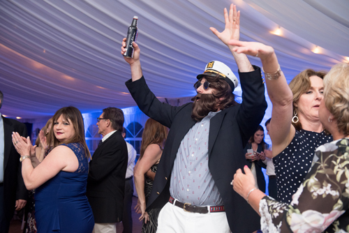 man with sailor hat dancing