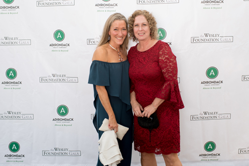 pair of women smiling