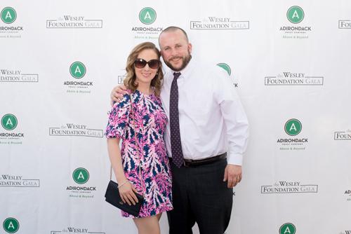 smiling couple at gala