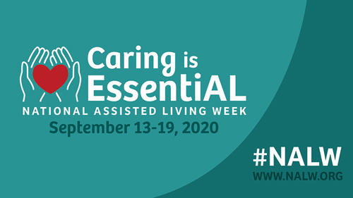 Caring is Essential - National Assisted Living Week logo