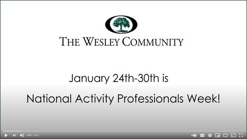An image declaring National Activities Professionals Week.