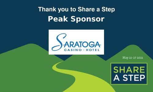 Share a Step Peak Sponsor Saratoga Casino Hotel