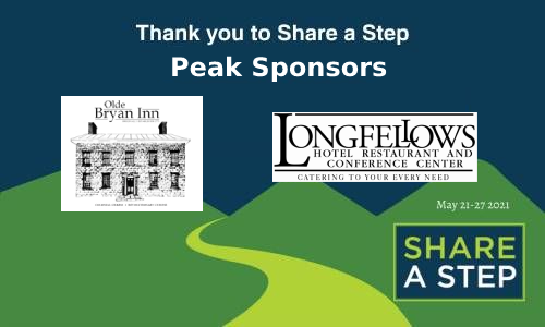 Longfellow's and Olde Bryan Inn are Peak Sponsors of Share a Step