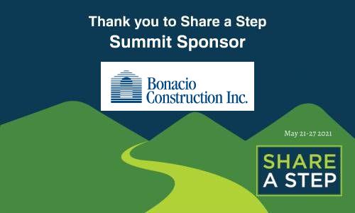 Bonacio Construction Summit Sponsorship of Share a Step