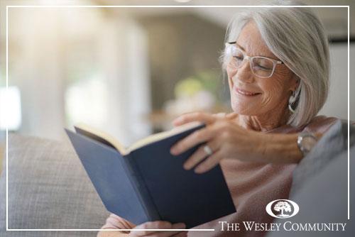 Senior Female reading book