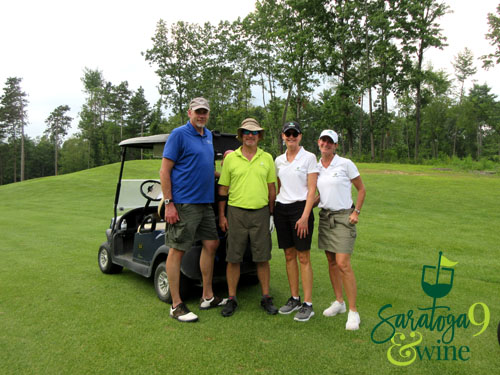 golf group with cart